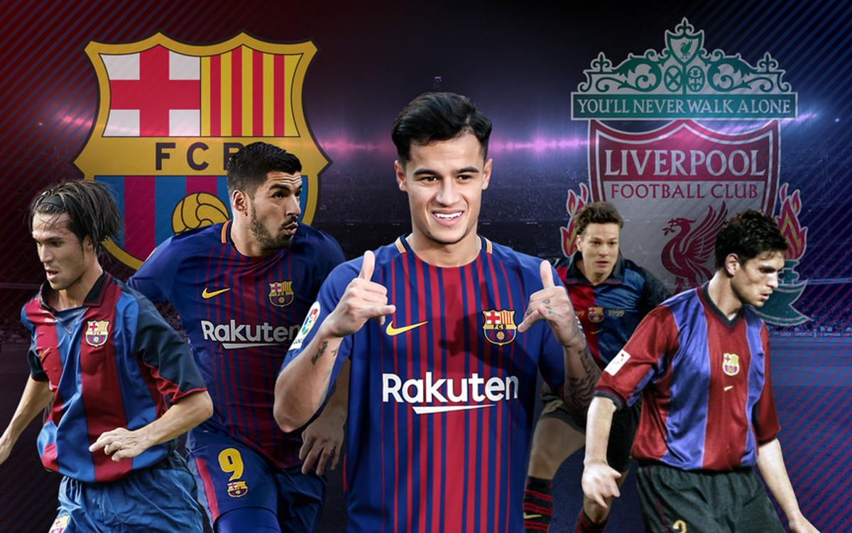 Coutinho will become the 8th player to play for both Barça and Liverpool