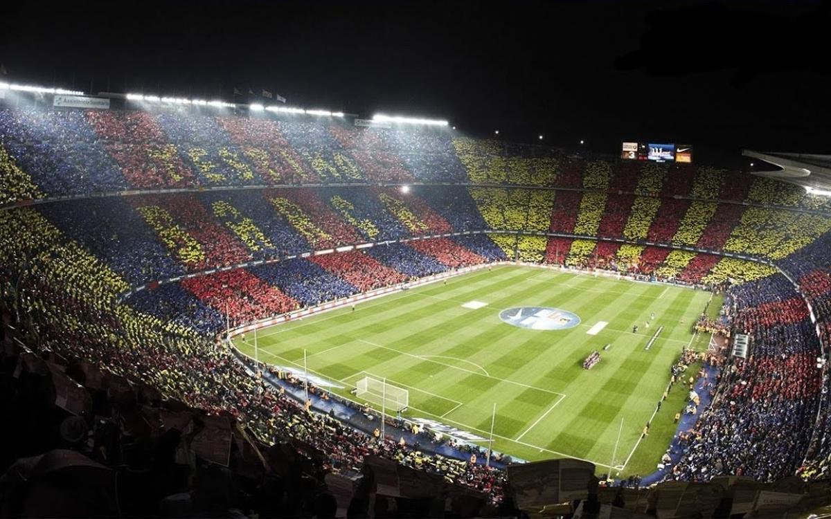Una imagen del Camp Nou en un Clásico
