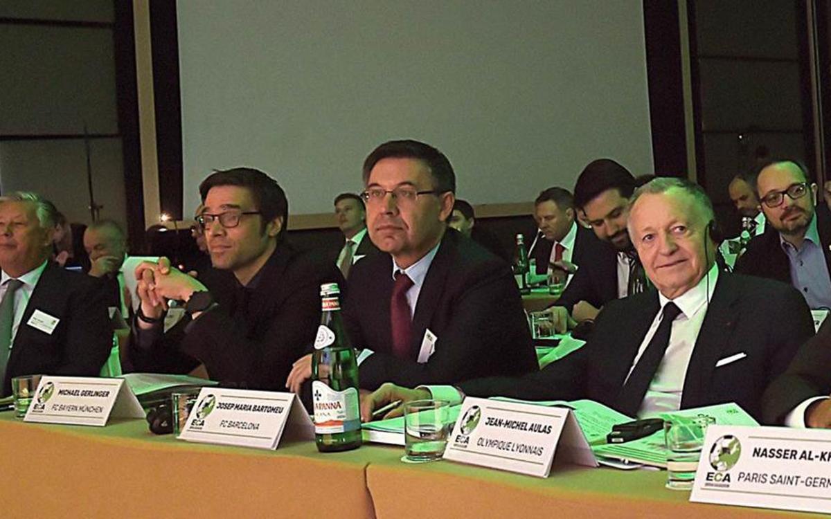 Bartomeu, presente en la Asamblea de la ECA en Roma