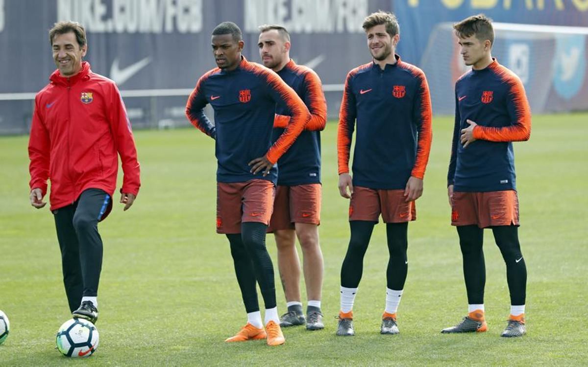 Small group return to training on Tuesday