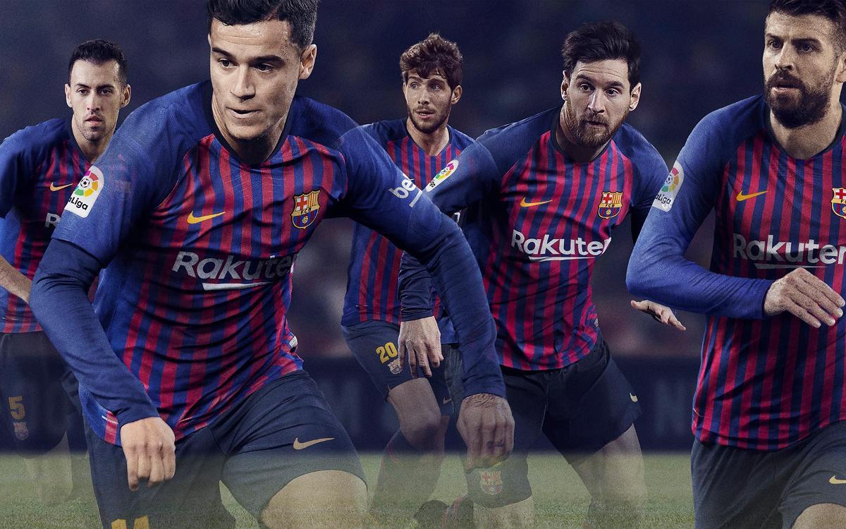 Présentation du nouveau maillot du FC Barcelone pour 2018/19