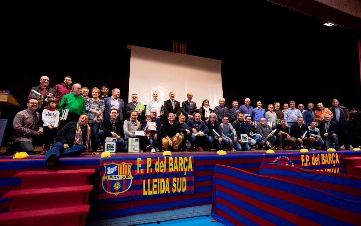 Bellpuig vive la XII Encuentro de Peñas Barcelonistas de Lleida Sur y la Franja