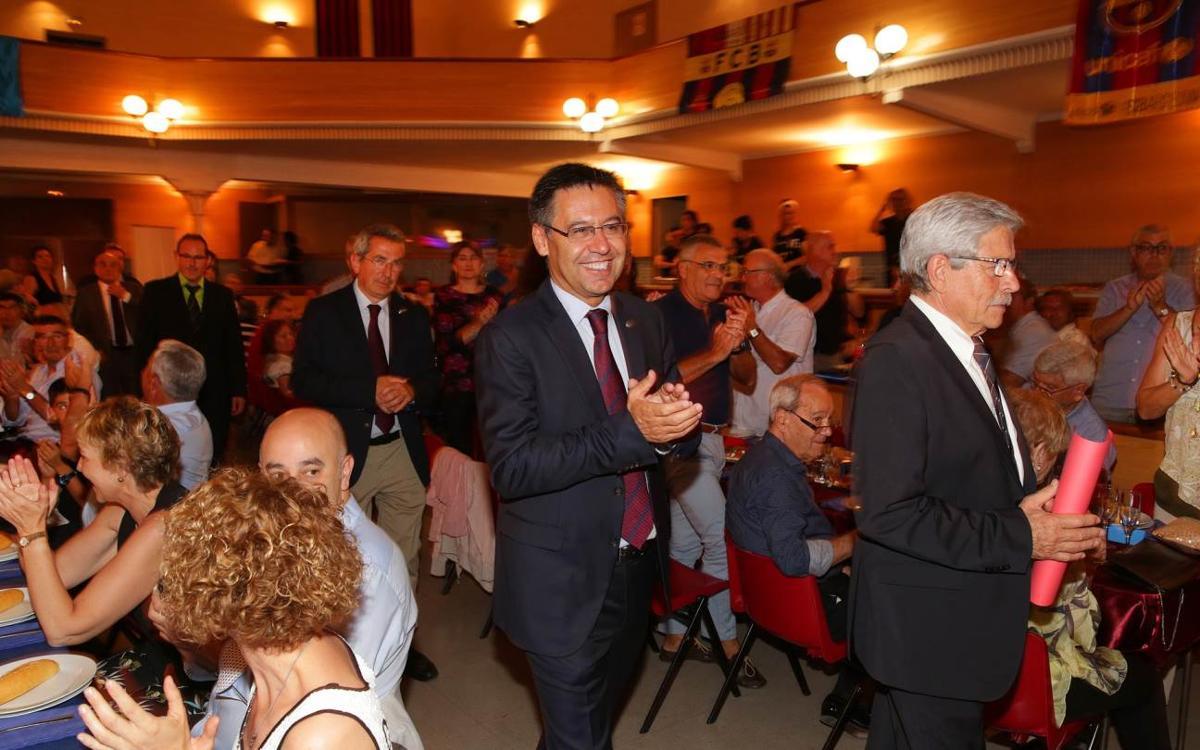 Josep Maria Bartomeu presideix la XVI Trobada de Penyes de Tarragona Nord