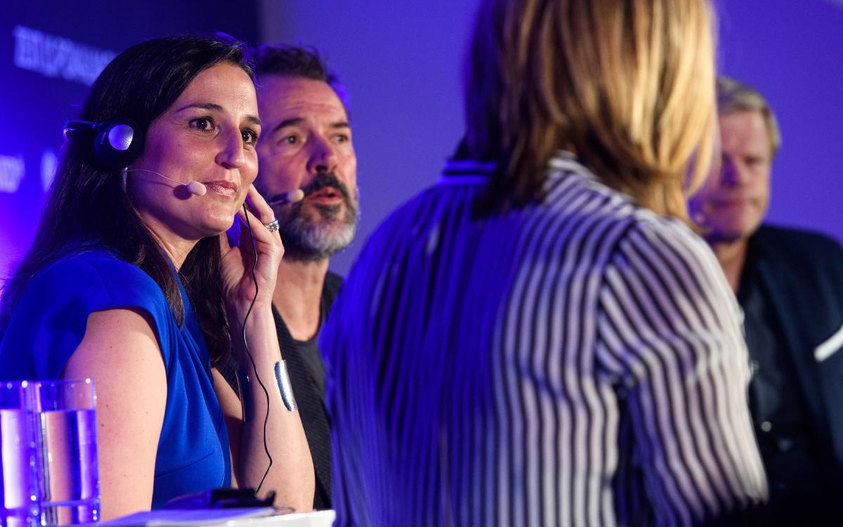 Maria Teixidor, presente en un acto del prestigioso diario alemán 'Die Zeit'