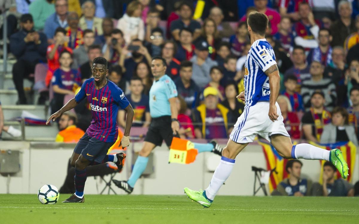 Dembélé suffers sprained ankle