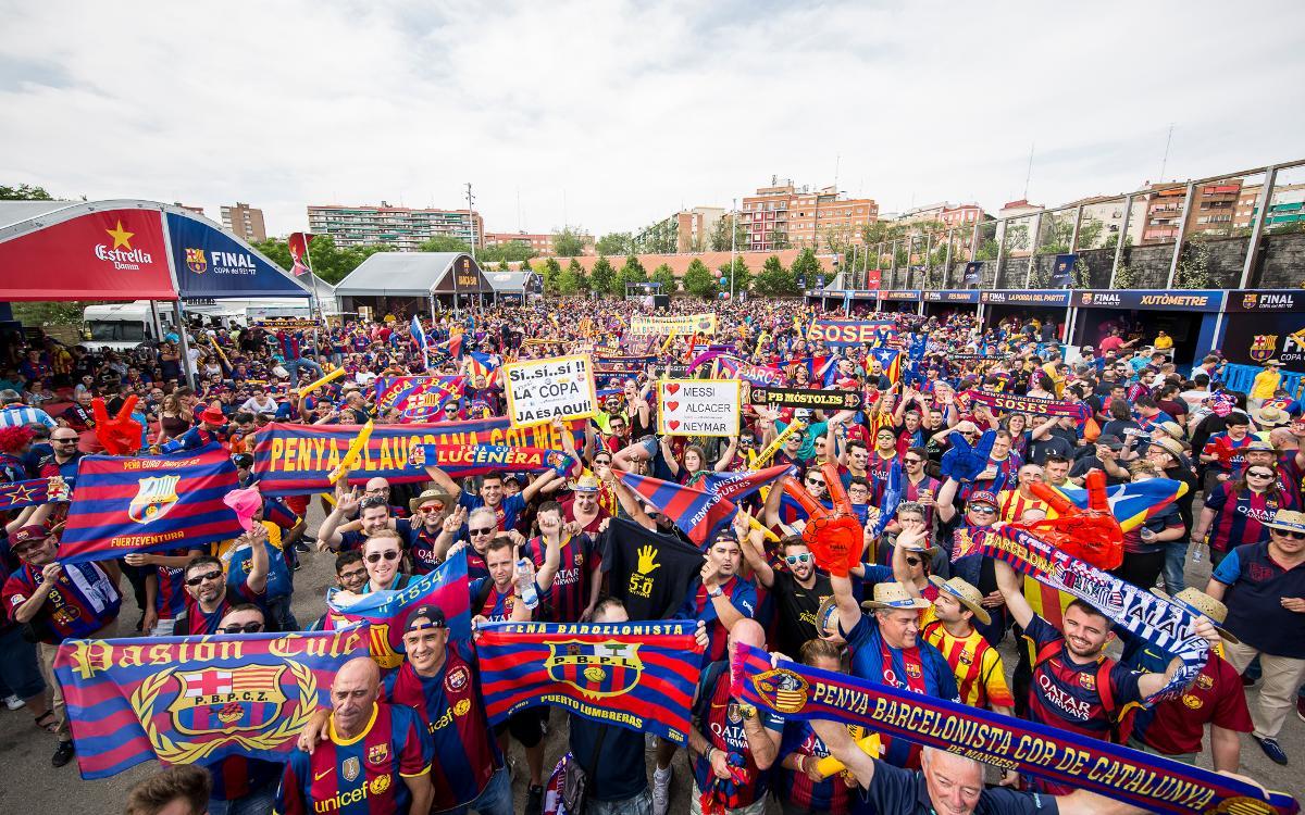 Las peñas conquistaron Madrid para la Final de la Copa del Rey
