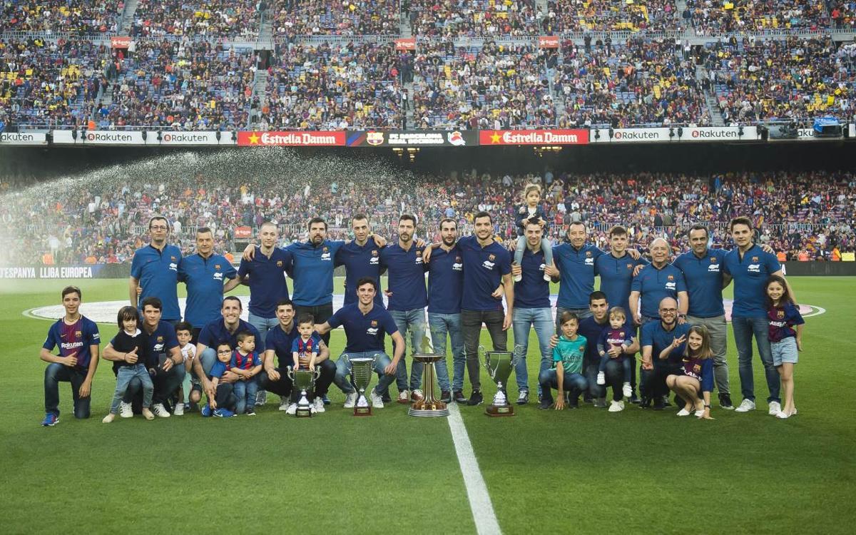 El Barça Lassa ofrece los cuatro títulos de una temporada excepcional en el Camp Nou