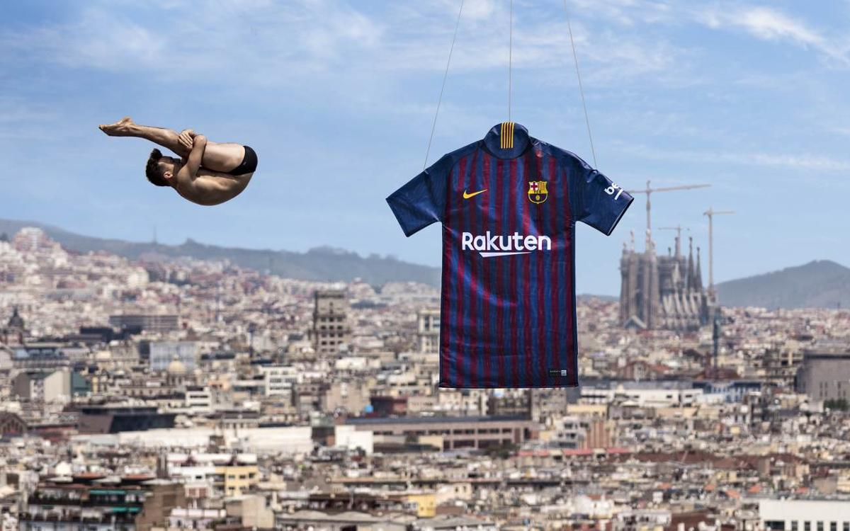 Barça presentation of new shirt pays tribute to the city of Barcelona