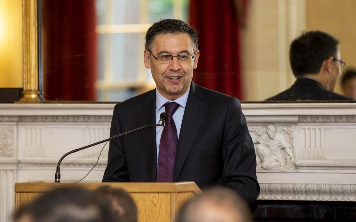 Josep Maria Bartomeu tells Harvard University about the unique Barça model and how it helps to make society better through sport