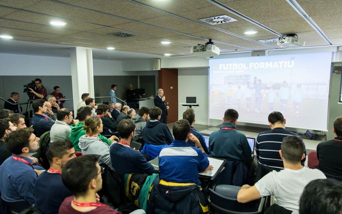 Arranca la tercera edición de la FCB Coaches Academy, la formación de formadores del FC Barcelona