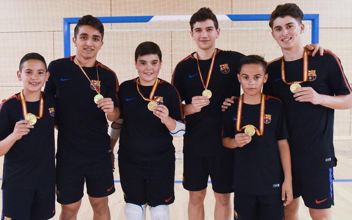 Els blaugranes campions amb Catalunya