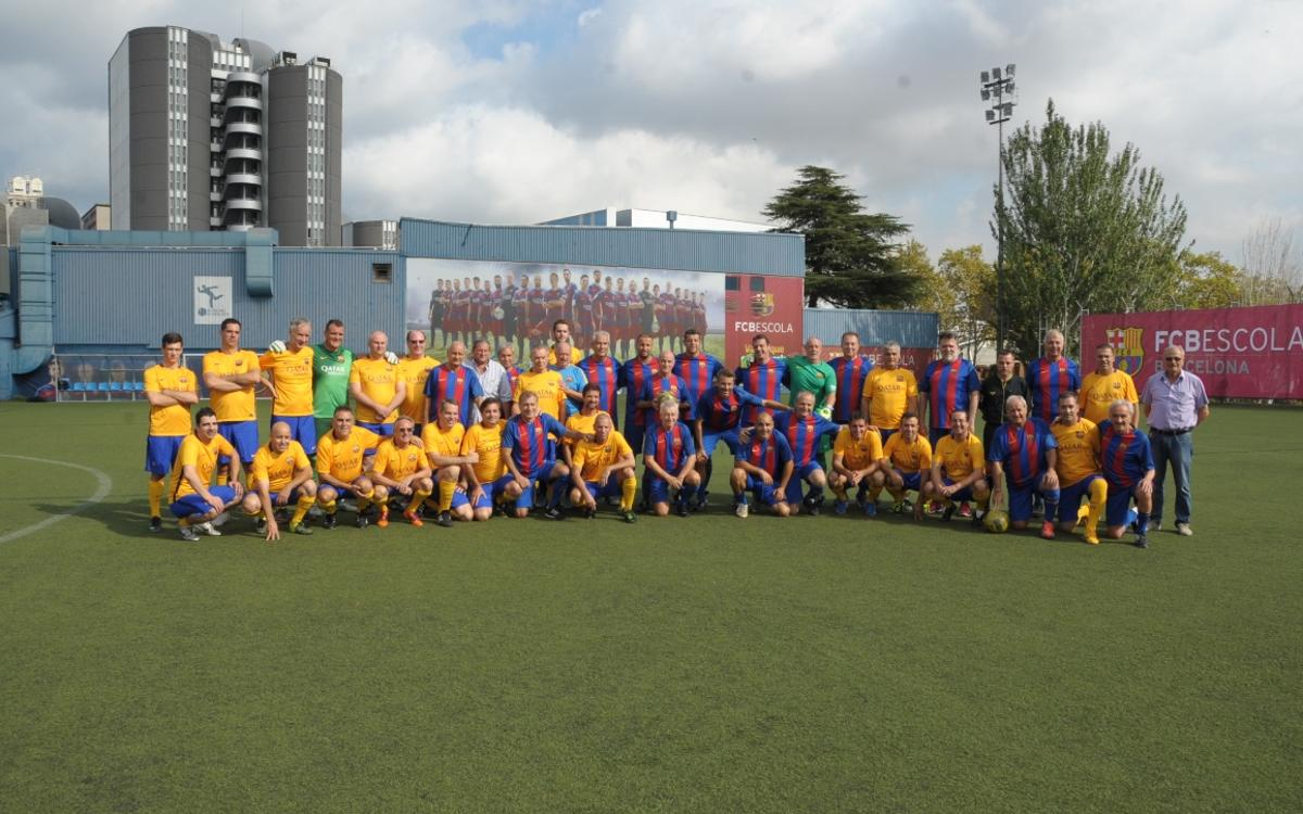 The Consular Corps of Barcelona plays a match with the Barça Players' Association