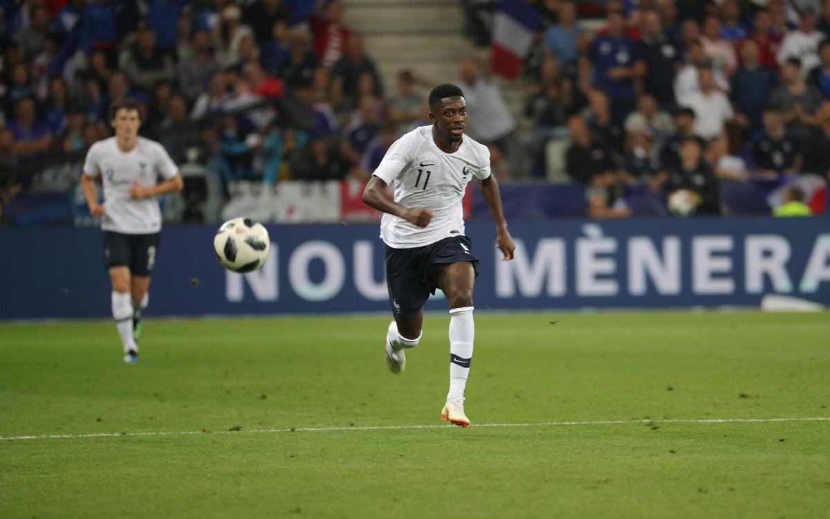 Umtiti et Dembélé, buteurs avec l'Équipe de France contre l'Italie