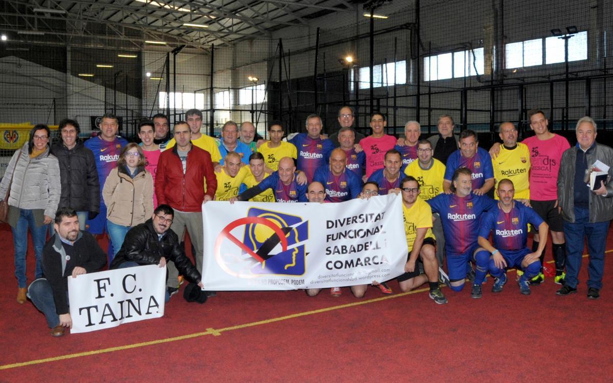 Nueva colaboración de la Agrupación con el FC Taina para apoyar al fútbol inclusivo