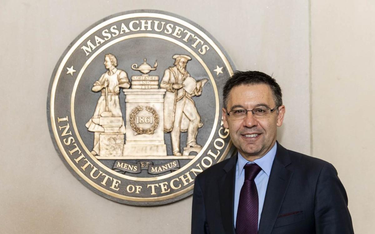 Josep Maria Bartomeu ha aprovechado su visita a Boston para conocer de primera mano el Massachusetts Institute of Technology (MIT)