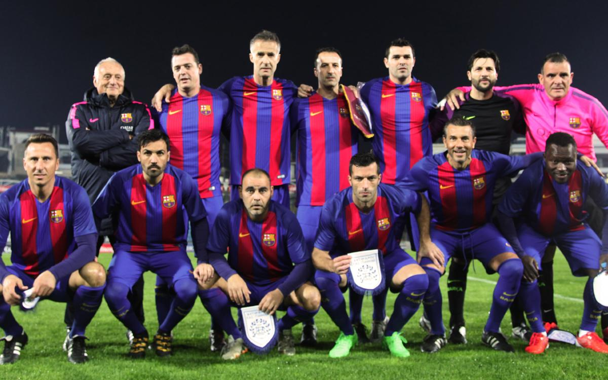 The Barça Players – PAS Giannina Veterans match rounds off the #WithRefugees day in Greece