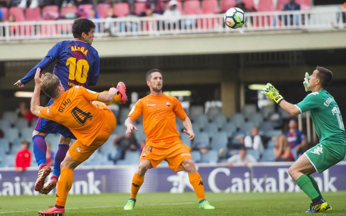 Barça B - CF Reus: Un gol tempranero condena el filial (0-1)