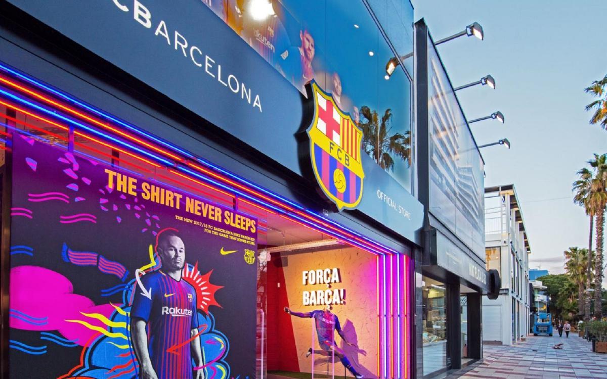 La FCBarcelona Official Store de Playa de Aro reabre en una mejor ubicación