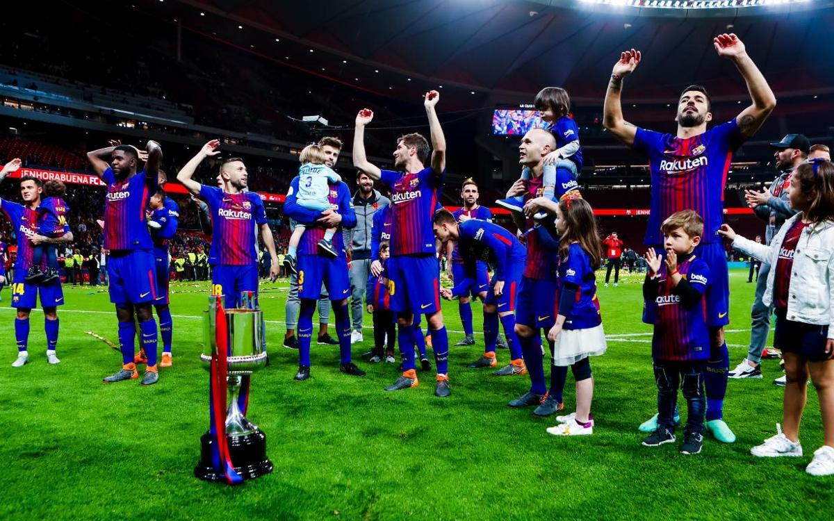 Vidéo - La célébration du titre en Coupe du Roi