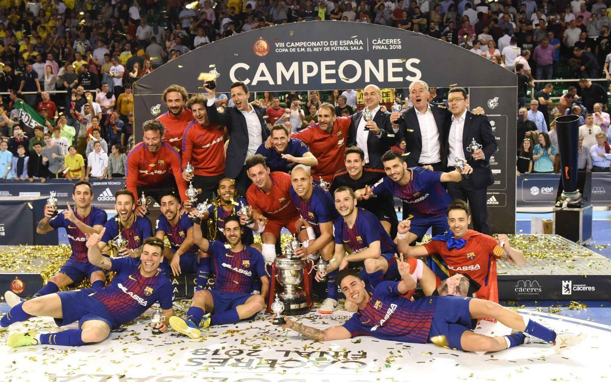 La quinta Copa del Rey, el primer título de la era Plaza