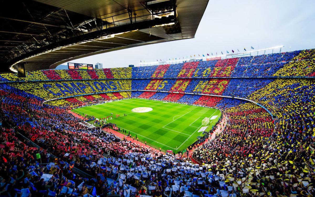 Biggest crowd of the season at Camp Nou