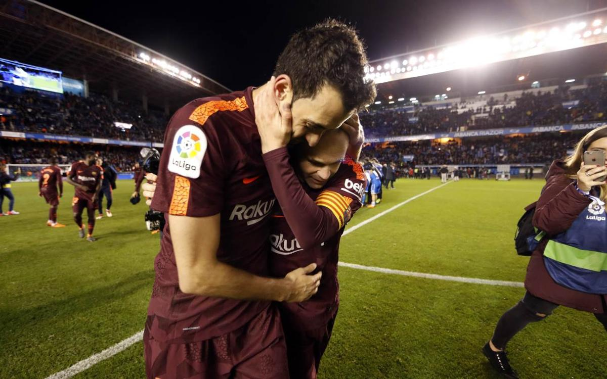 These were the FC Barcelona celebrations at Riazor