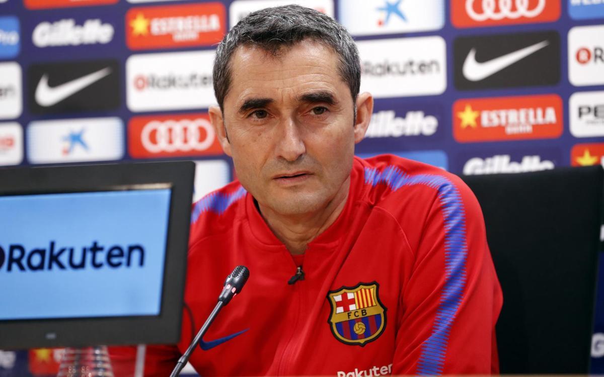 """Ernesto Valverde: """"El Clàssic és un partit que motiva molt"""""""