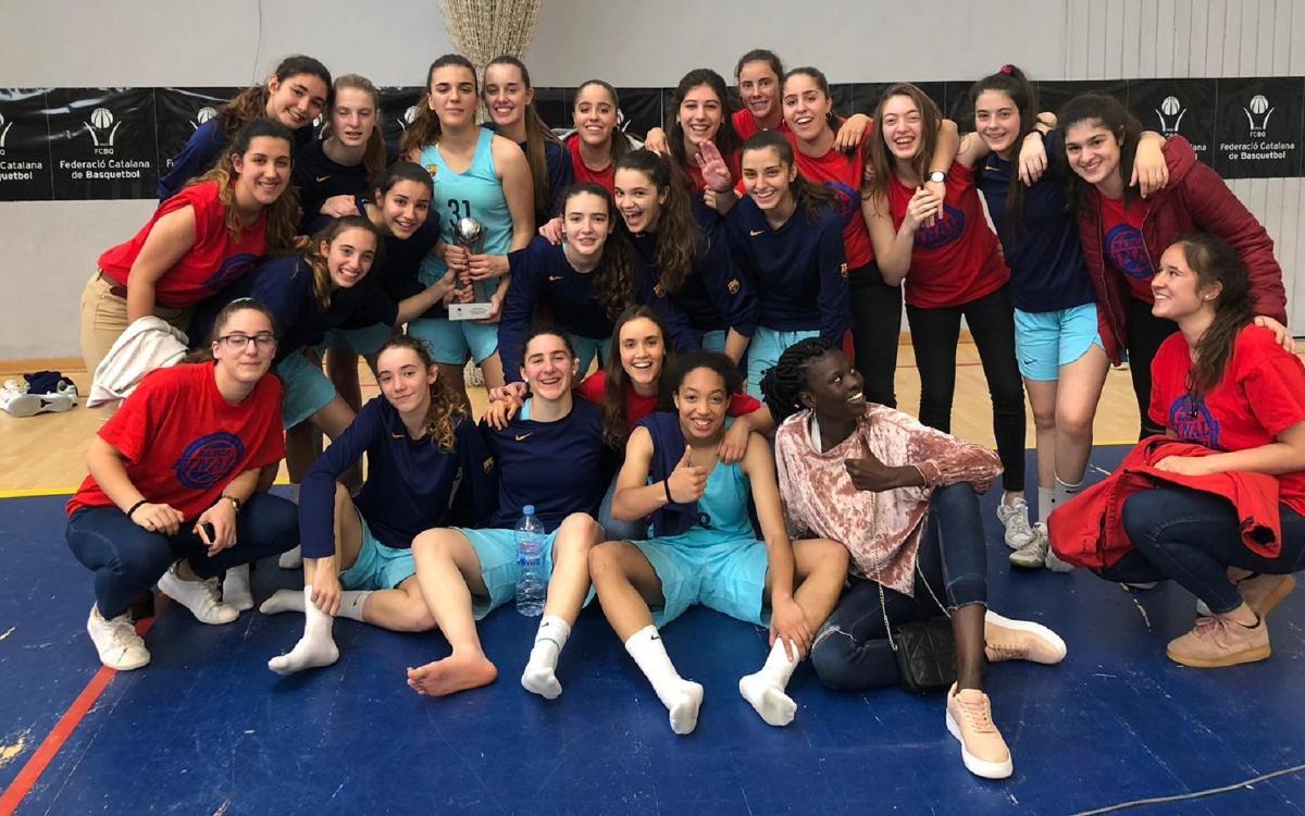 Las cadetes del Barça CBS jugarán el campeonato de España, tras conseguir el sub campeonato de Cataluña