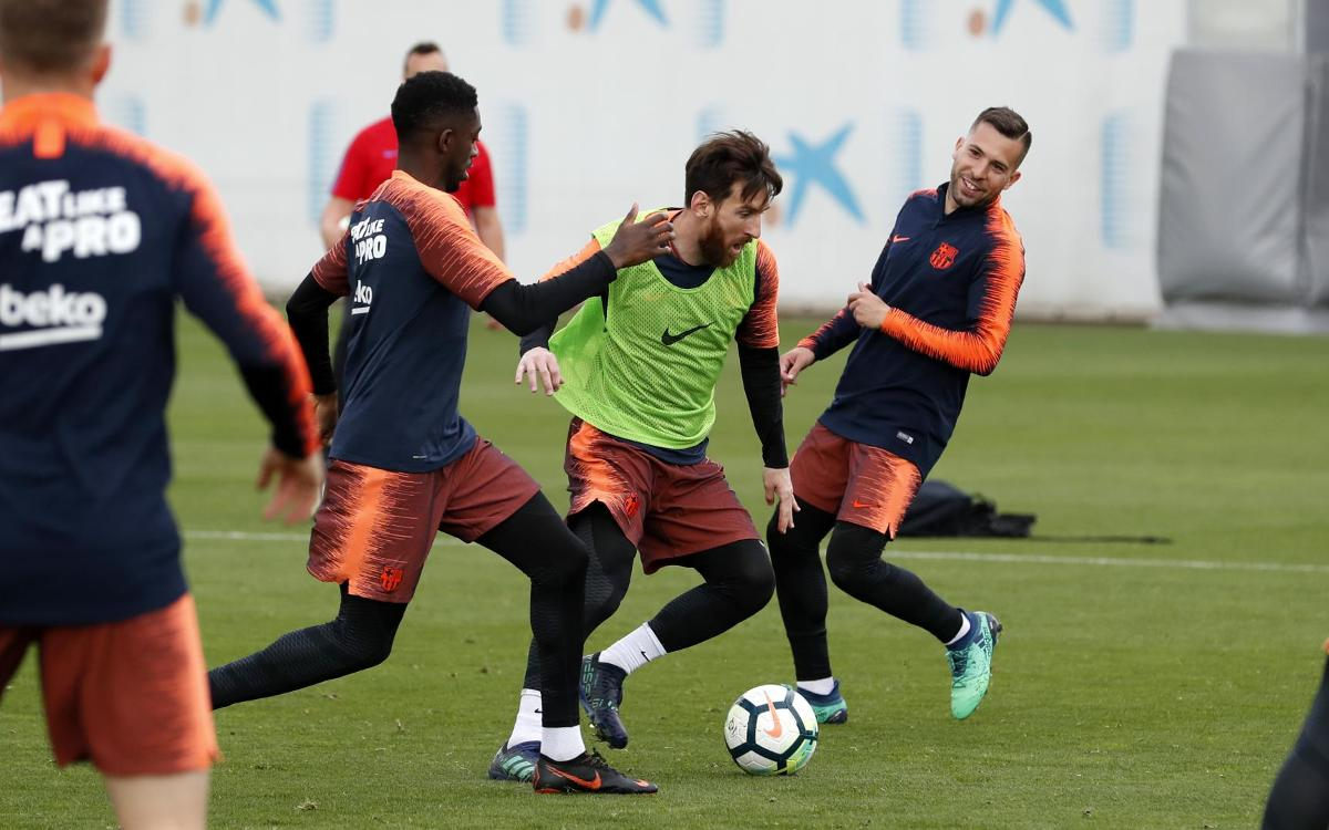 Training continues for El Clásico
