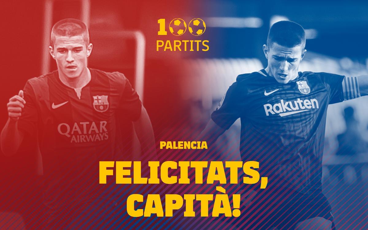 Palencia arriba a 100 partits amb el Barça B