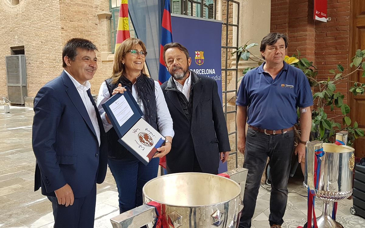 La Federació de Penyes del Barcelonès Est celebra 'Sang Culé', una jornada solidària de donació de sang