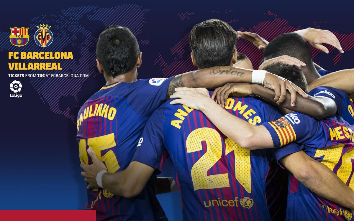 TV times for FC Barcelona vs. Villarreal