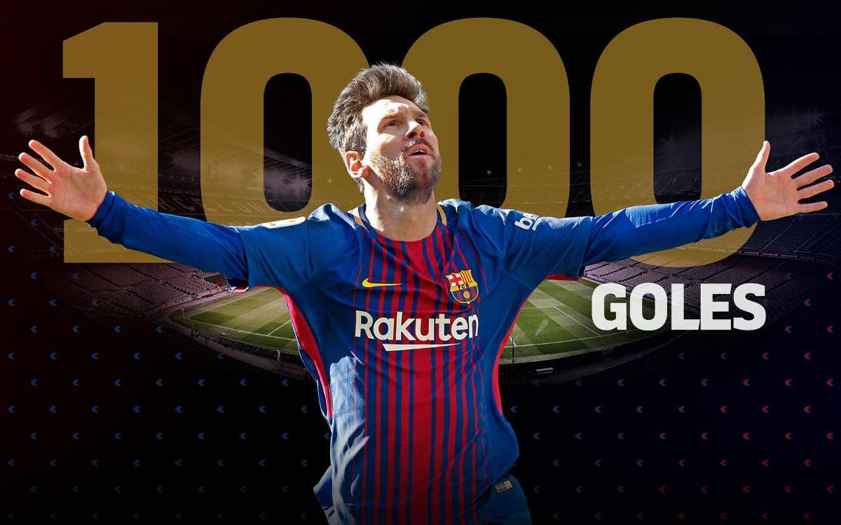 Lionel Messi llega a los 1.000 goles como futbolista