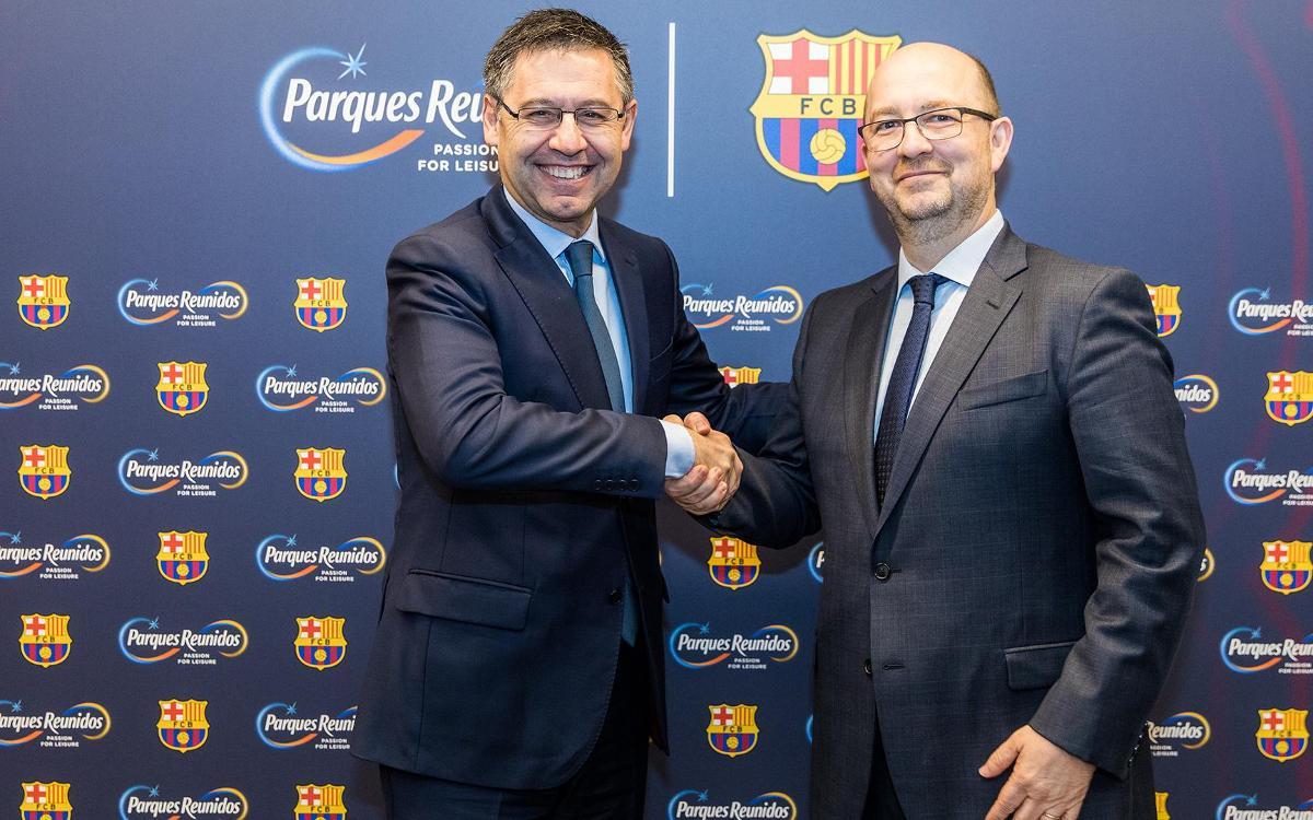 El FC Barcelona i Parques Reunidos obriran un mínim de cinc parcs d'oci per gaudir d'Experiències Barça en territoris estratègics