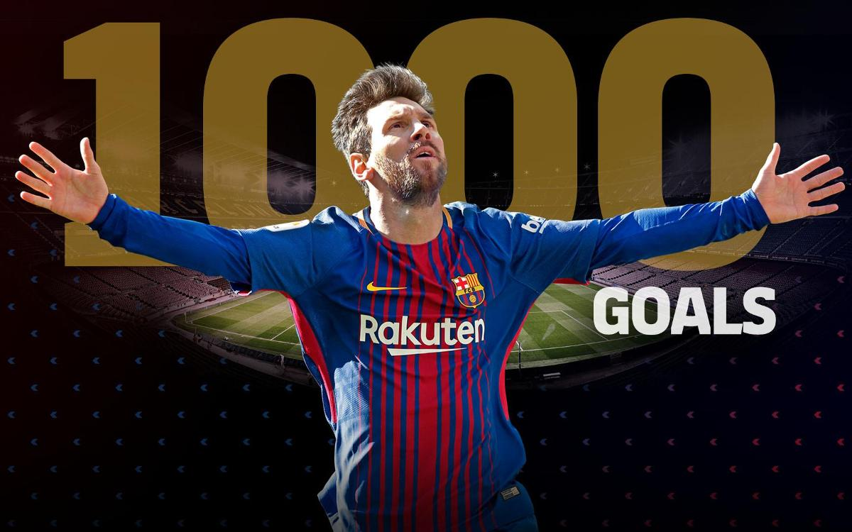 Messi atteint la barre des 1000 buts