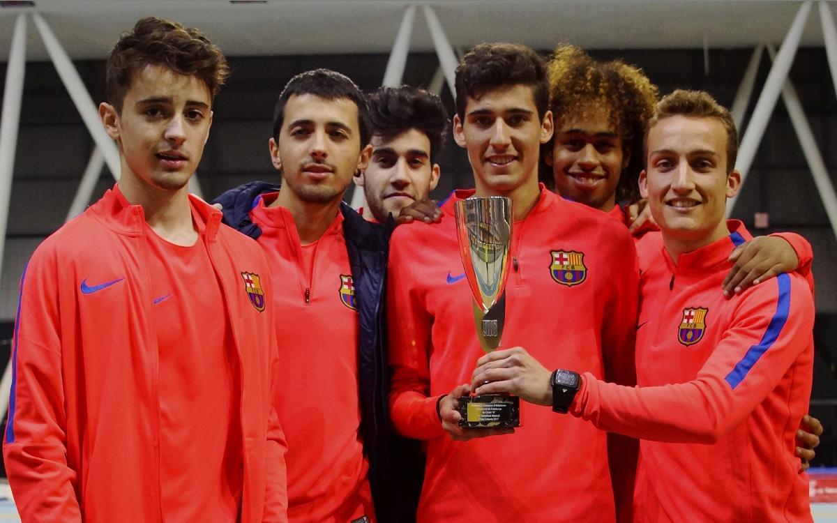 El FC Barcelona gana el Campeonato de Cataluña de Clubes en Pista Cubierta