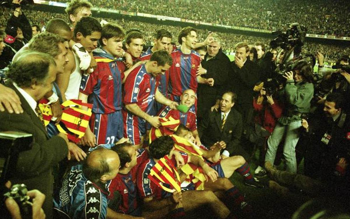 1997-98: Van Gaal leads a Dutch-heavy Barça to the club's first league and cup double for 39 years.