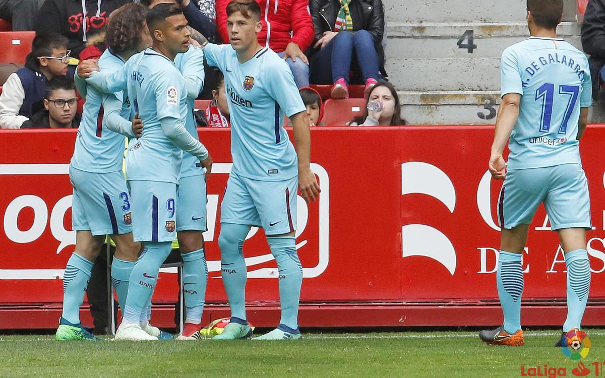Sporting Gijón – Barça B: Victory of prestige and hope (2-3)