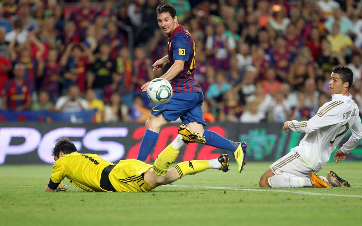 Messi's 10 El Clásico goals at the Camp Nou