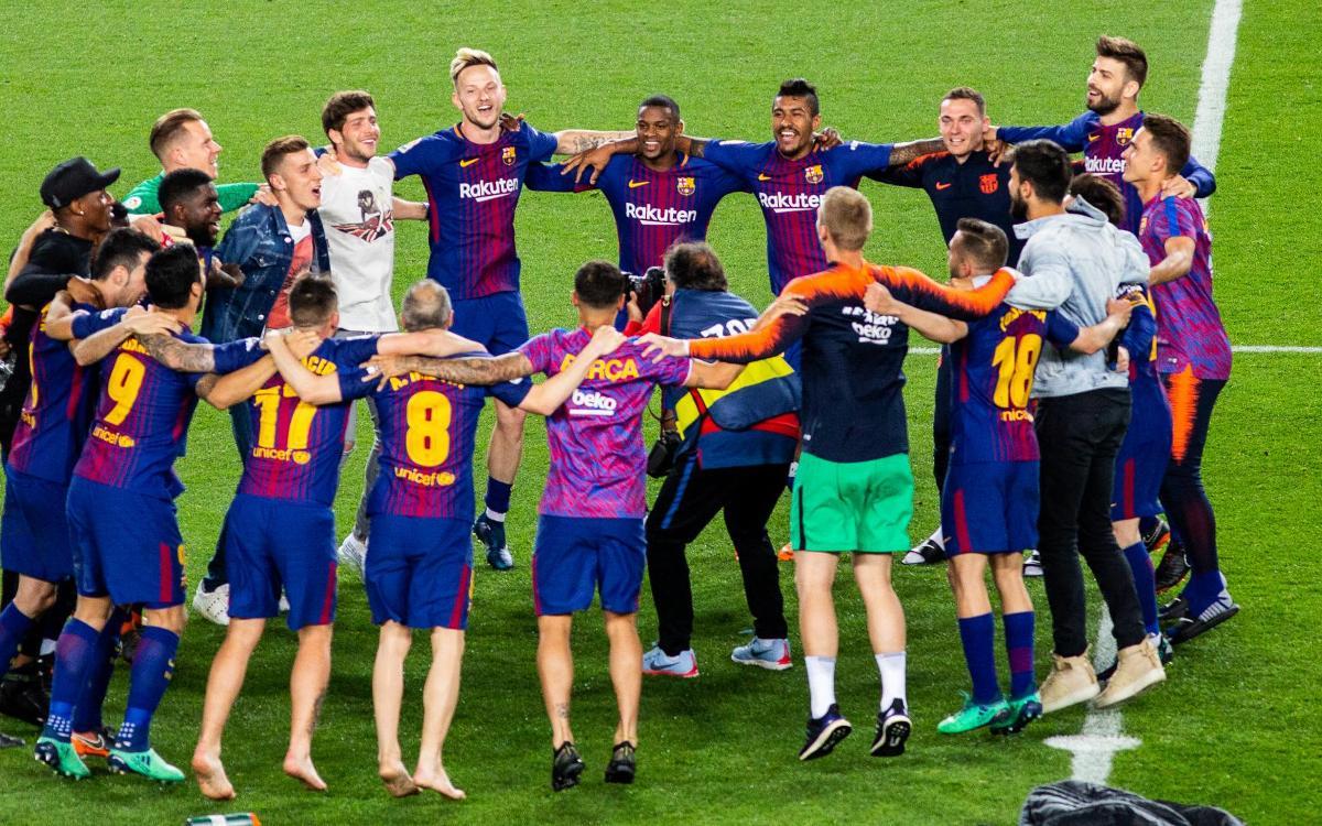 Festa dels campions al Camp Nou