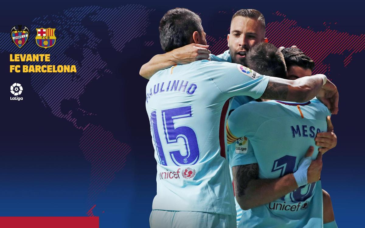 When and where to watch Levante – FC Barcelona