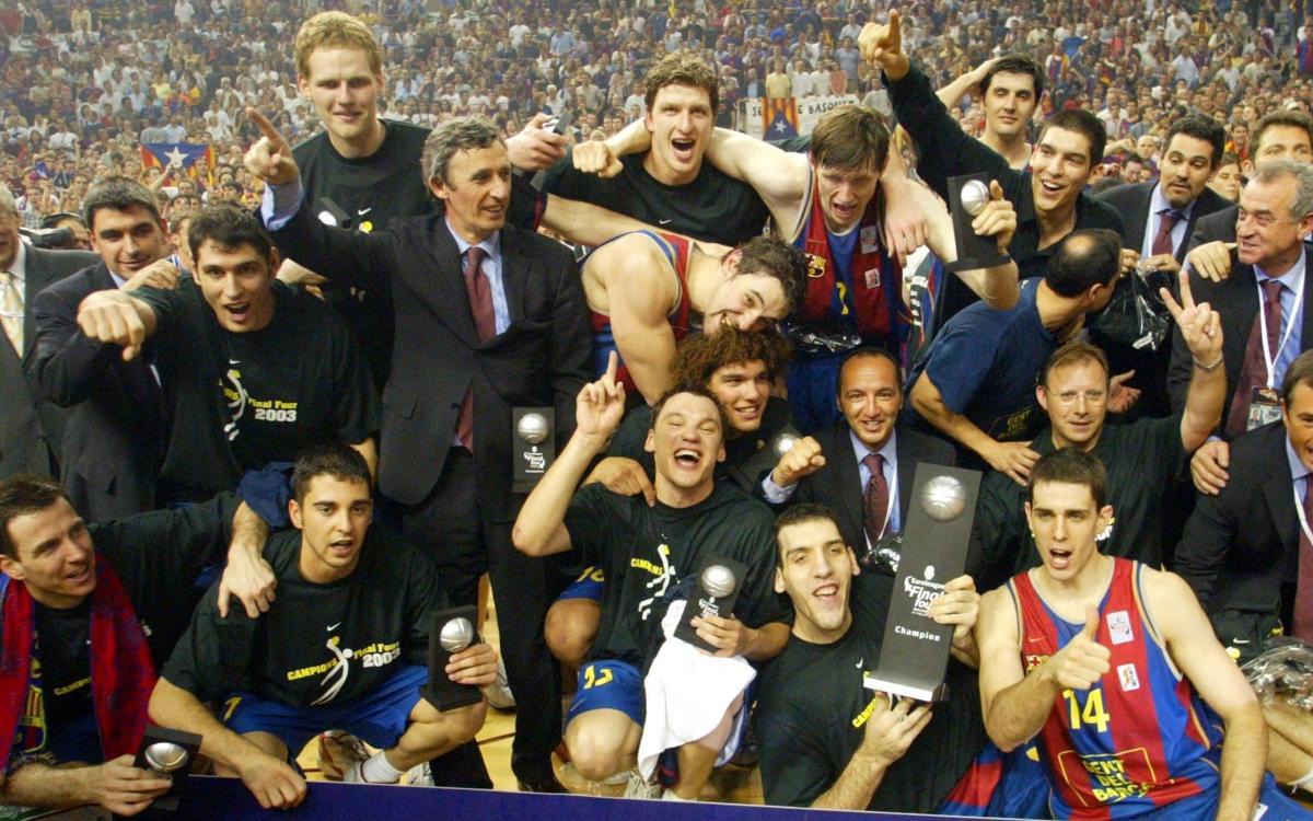 Es compleixen 15 anys de la primera Eurolliga del Barça de bàsquet