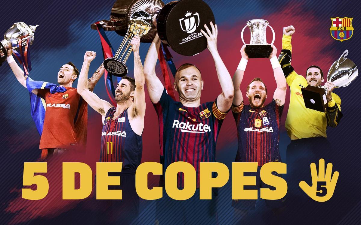El FC Barcelona, campió de Copa en totes les seccions en una mateixa temporada