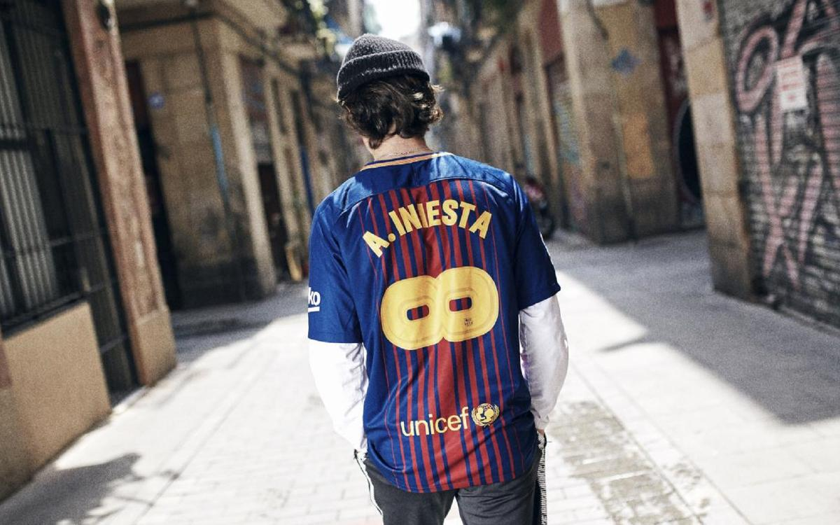 The #Infinit8Iniesta jersey, on sale now!