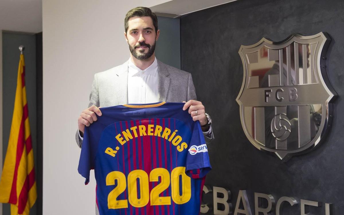 Raúl Entrerríos renova per a dues temporades