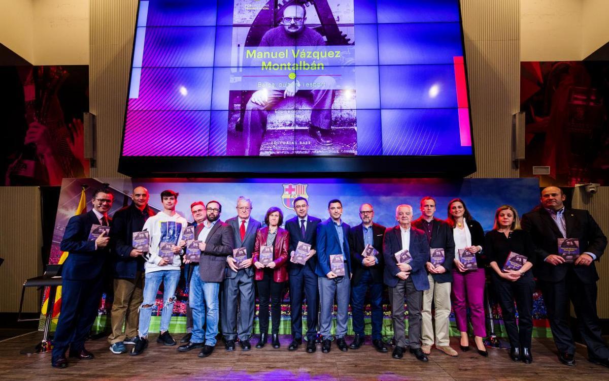 Presentat el llibre 'Manuel Vázquez Montalbán. Barça, cultura i esport'