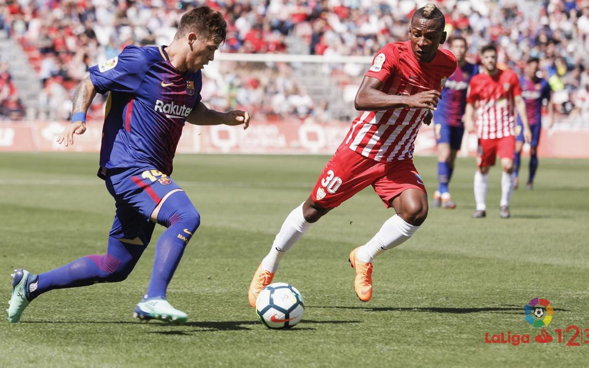CRÓNICA UD Almería - FC Barcelona B: Sin fortuna de cara gol (1-0)