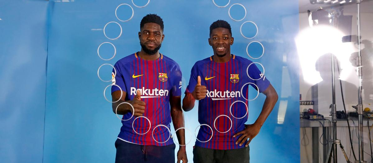 Umtiti and Dembélé must choose one emoji to describe each player on the team, including themselves!