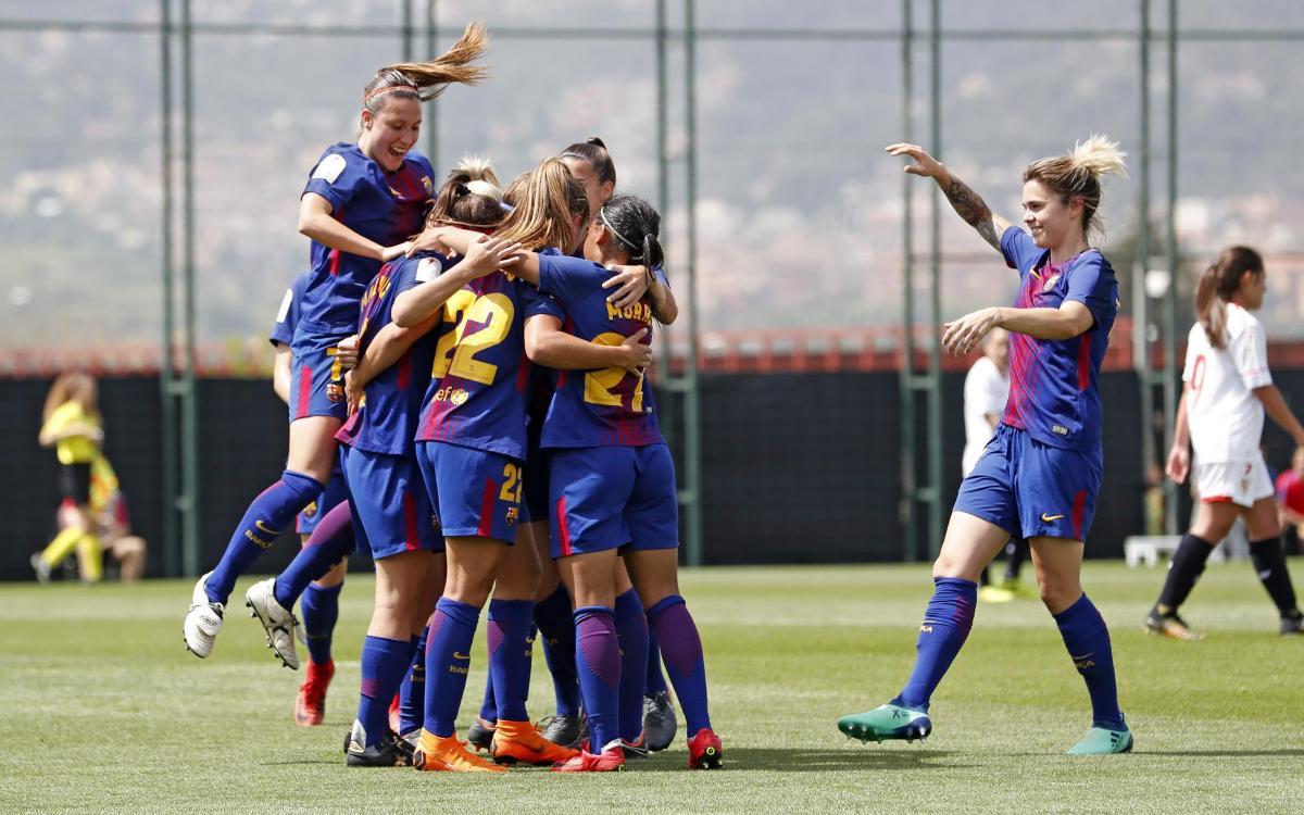 Barça Femení – Sevilla FC: Victòria sense contemplacions (5-0)