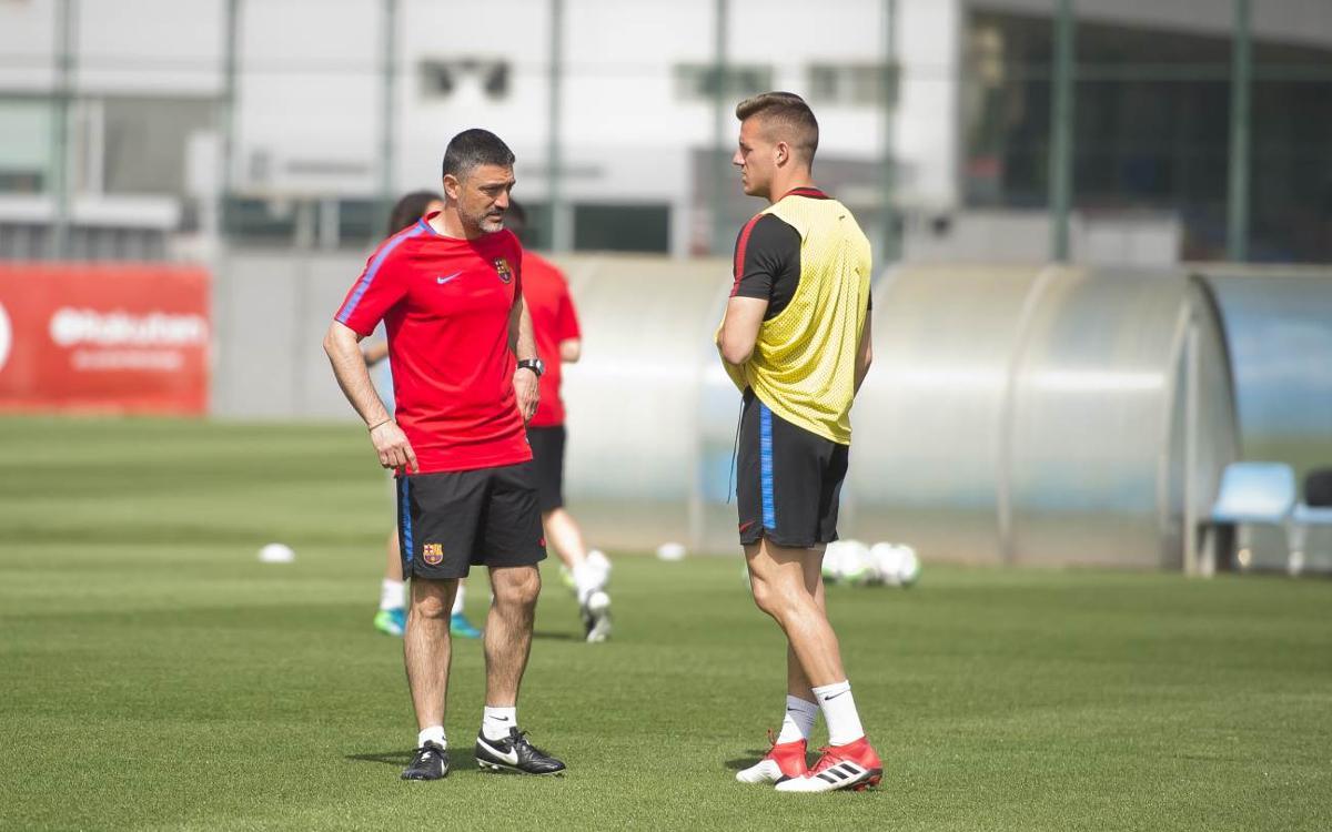 García Pimienta ya dirige al Barça B